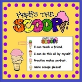 Learning Scale Desk Cards (Ice-Cream Theme)