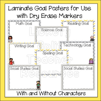 Learning Scale, Goal & Target Posters in Gray & Yellow - Marzano
