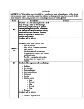 Learning Scale: LAFS.2.W.1.1