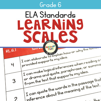 Learning Scales ELA 6th Grade