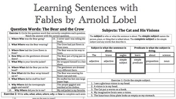 Learning Sentences with Fables