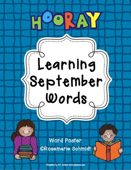 Learning September Words K-4