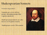 Learning Shakespearean Sonnets Lesson (Sonnet 18)