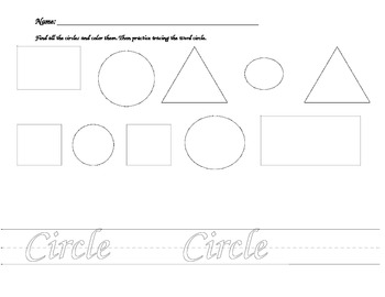 Learning Shapes-Circle