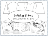 Learning Shapes Worksheets (colour, count, trace and graph)