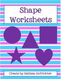 Learning Shapes:  Worksheets for Shape Identification