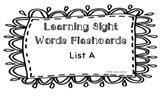 Sight Words -Learning Sight Words Flashcards