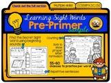 Learning Sight Words: Pre-Primer FREE Sampler