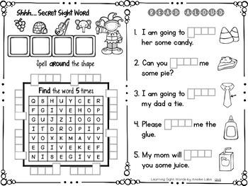 Learning Sight Words: The Bundle (Pre-Primer, Primer, 1st grade Dolce)