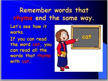 Learning Simple Short a Words Using Word Families