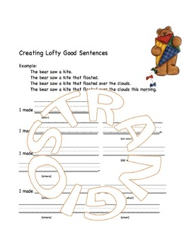 Learning Simply - Lofty Good Sentences for 1st Grade Students