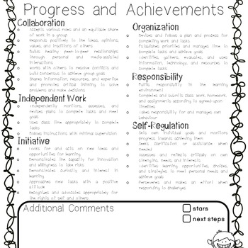 Learning Skills Assessment Tracking Sheet and Anecdotal Records for Reporting