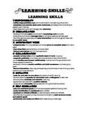Learning Skills Comments and Next Steps