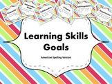 "Learning Skills ""I will"" Charts {Rainbow Theme} - American"