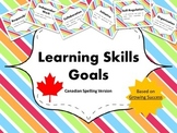 "Learning Skills ""I will"" Charts {Rainbow Theme}  - Canadia"