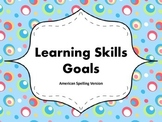 "Learning Skills ""I will"" Charts {Silly Dots Theme} - Ameri"