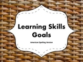 "Learning Skills ""I will"" Charts {Wicker Theme} - American"