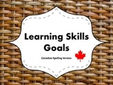 "Learning Skills ""I will"" Charts {Wicker Theme} - Canadian/"