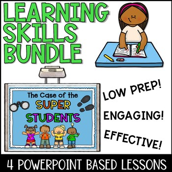 Study Skills Curriculum Lesson Plan Bundle for Lower Elementary