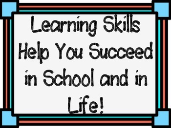 Learning Skills Poster Set (in Colour)