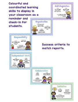 Learning Skills Posters (8.5 x 11) Ontario Learning Skills