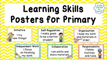 Learning Skills Posters for Primary - Back to School