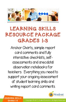 Grades 1-3 Learning Skills Mega-Bundle - Everything You Need for Report Cards