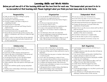 Learning Skills Self Assessment
