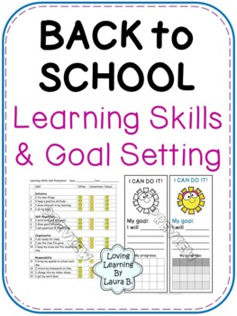 Learning Skills Self-evaluation and Goal Setting for Primary Back to School