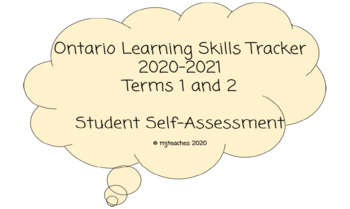 Learning Skills Tracker Booklet BUNDLE: 2018-2019 Terms 1 and 2