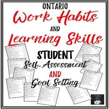 Learning Skills & Work Habits Student Self-Assessment Checklists