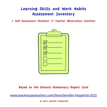 Learning Skills and Work Habits Assessment Inventory