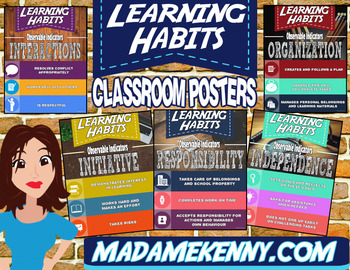 Learning Skills and Work Habits Classroom Posters