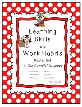 Learning Skills and Work Habits Poster SET