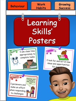 Learning Skills and Work Habits Posters - Ontario Curriculum