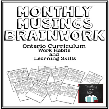 Learning Skills & Work Habits Student Self-Assessment BUNDLE {CUSTOMIZABLE}