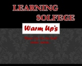 Learning Solfege -- Warm Up's -- On the Staff