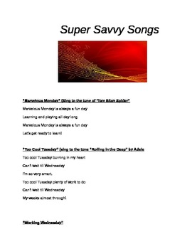Learning Songs for the Classroom