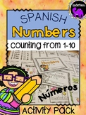 Learning Spanish Number Words 1-10 Activity Pack {Elementary}