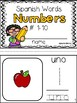 Learning Spanish Number Words Interactive Mini-Reader {Printable Book}