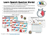 question words spanish teaching resources teachers pay teachers. Black Bedroom Furniture Sets. Home Design Ideas