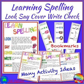 Learning  Spelling Activity Ideas, Posters and Notebook Reminders