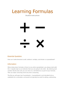 Learning Spreadsheet Formulas