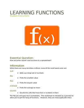 Learning Spreadsheet Functions