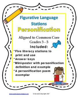 Learning Station Personification Figurative Language