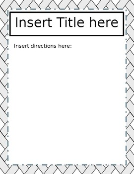 Learning Station Poster- Template