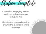 Learning Stations Template - Create your own stations