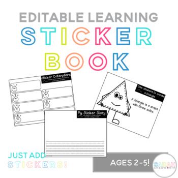 Learning Sticker Book