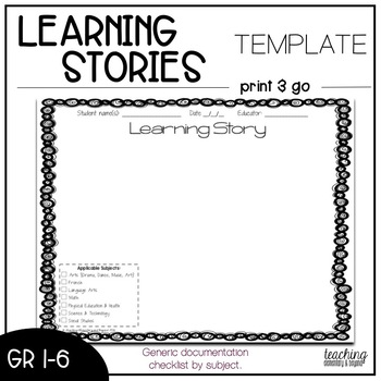 Learning Story Documentation Templates