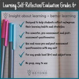 Learning Strategies/Study Habits Reflections and Self-Evaluation, Grades 6+